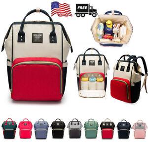 Baby-Diaper-Bag-Maternity-Women-Backpack-Rucksack-Mummy-Travel-Stroller-HandBag