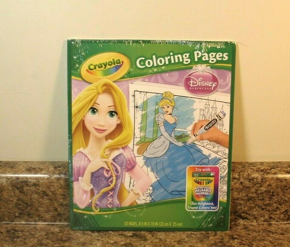 Crayola Disney Princess Coloring Pages Pad New For Sale Online