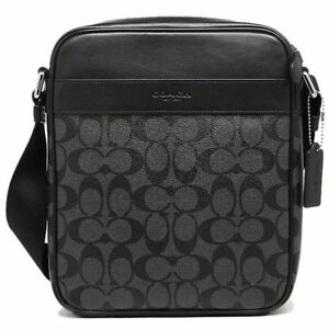 962f4c3eff Coach Men s Flight Crossbody Bag in Signature Charcoal black F54788 ...
