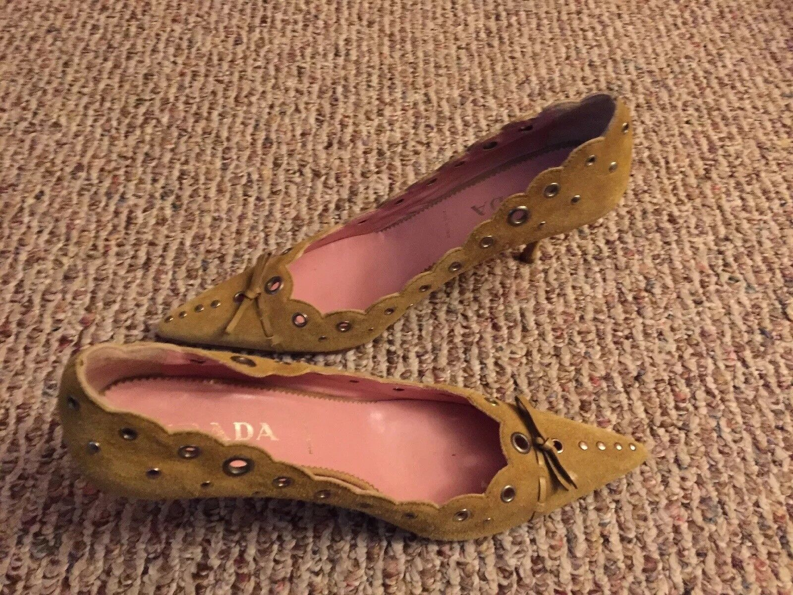 Prada shoes Suede Leather Pumps Size  40