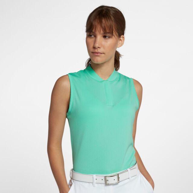 fe737c0140f78 Nike Dri-FIT Women s Green Sleeveless Golf Polo Style  928723-342 USA Seller