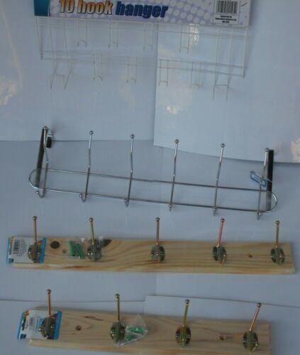 écharpe Cintre 4 ou 5 crochets porte en bois montage en rack vis sur support mural Manteau Chapeau