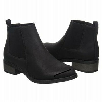 NEW Women's DIRTY LAUNDRY SADA Black Slip on  Fashion Ankle Casual Dress Boots