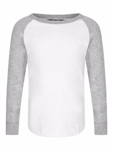 New Riot Club England Boys White Grey T-Shirt Long Sleeve Ages 2-8 Free P+P