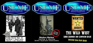 Me-utilice-15mm-A6-rules-history-rulebooks-Guerra-Mundial-2-modern-warfare-the-Wild-West