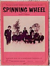 VINTAGE SHEET MUSIC - 1968 SPINNING WHEEL - DAVID C. THOMAS - BLOOD SWEAT TEARS