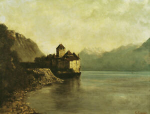 Chateau de Chillon Gustave Courbet Painting Print Canvas Giclee Art Small 8x10