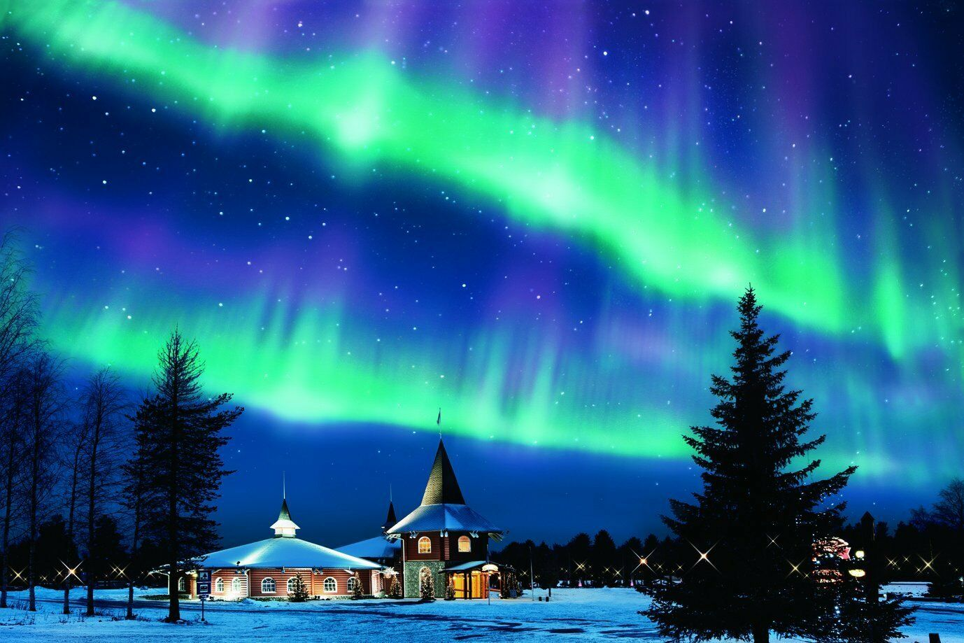 Epoch Jigsaw Puzzle 1000 piece 10-737 Aurora Night View Finland Japan Nuovo