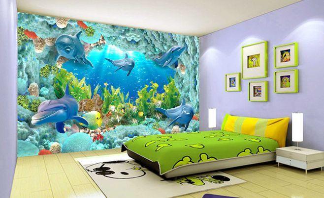 3D U- Boot-Wasserpflanzen Fototapeten Wandbild Fototapete BildTapete Familie DE