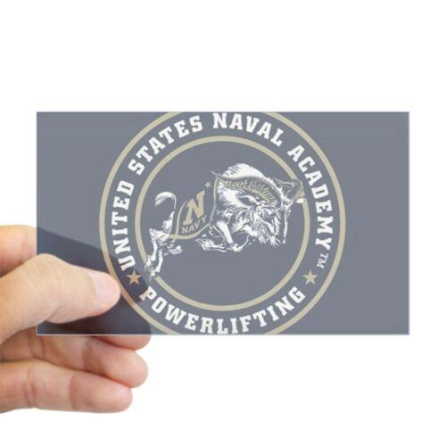 CafePress US Naval Academy Powerlifting Sticker 230455961 rect.