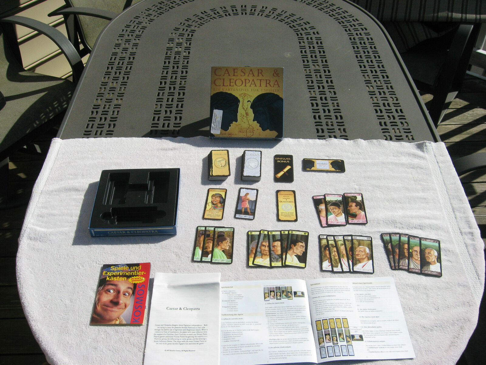 Caesar & Cleopatra Card Game For 2 Players Kosmos Mayfair GamesComplete