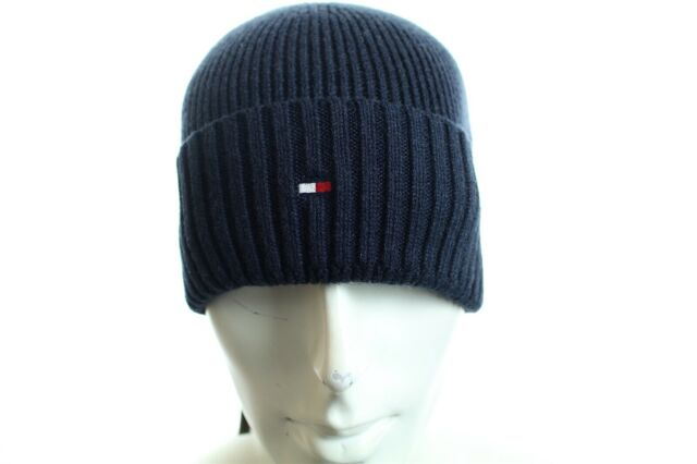 e779207440acb Tommy Hilfiger Pima Cotton Cashmere Beanie Hat Navy for sale online ...
