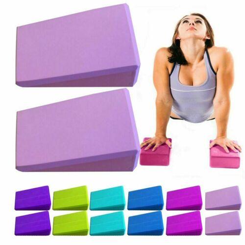1x Yoga Blocs Mousse Extensible Support Exercise Class Brique Pilates Rehab blocs