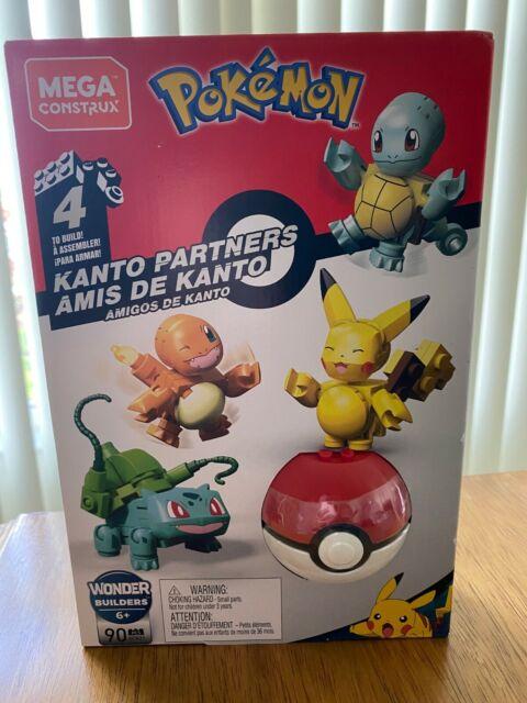 NEW MEGA Construx Pokemon KANTO Partners Building Set 90pcs FACTORY SEALED