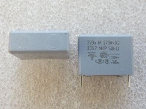 2 condensateur 220nF 275Vac X2 antiparasitage Vishay BC Components
