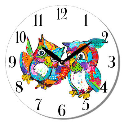 NEW 28.8cm Round MDF Wall Clock  Kitten Cat In Cup  Wall Clock Home Decor Gift