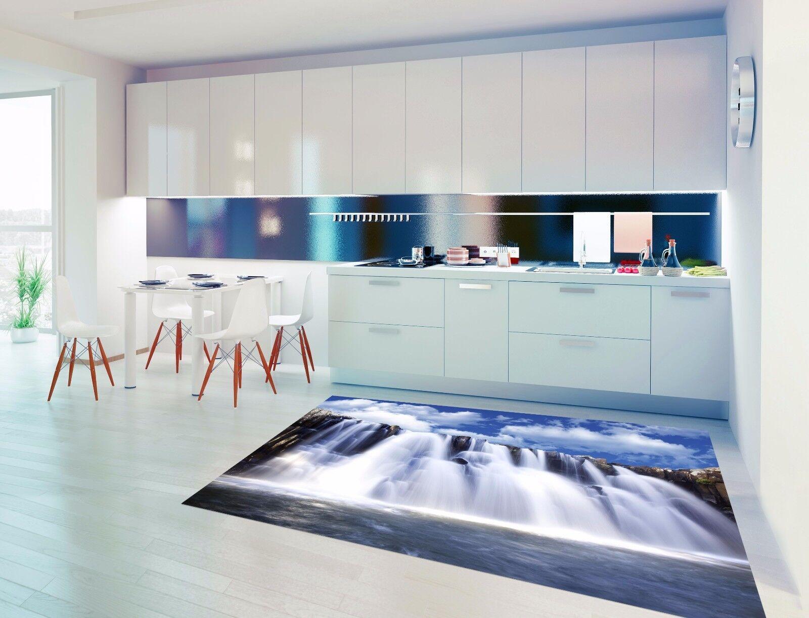 3D River Clouds 7 Kitchen Mat Floor Murals Wall Print Wall AJ WALLPAPER AU Carly
