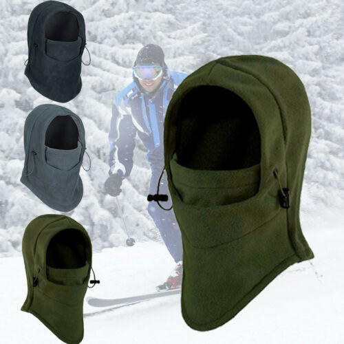 Uni Thermal Fleece Balaclava Hood Cap Winter Mask Ski Bike Hat Headscarf Warm
