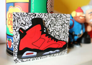 low priced 440bf 0c6e2 Image is loading Retro-Air-Jordan-6-VI-Infrared-23-sneaker-