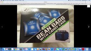 Details About Eastpoint Led Lighted Toss Bean Bags Blue Carry Case 16 Oz Nib