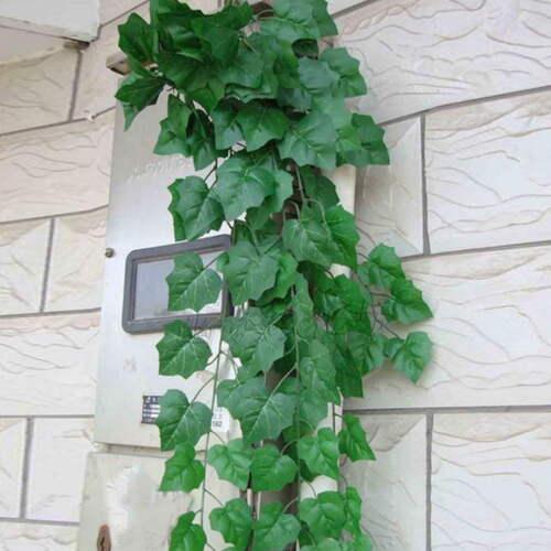 Künstliche Efeu Efeubusch Efeugirlande Efeuranke 200cm Kunstpflanzen Blätter G#