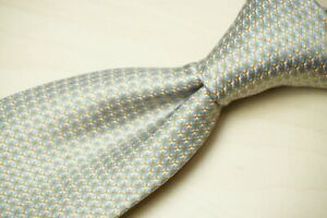 Stefano Ricci Baby Blue Copper Plaid 100% Silk Tie Made in Italy