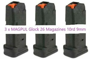 3-x-MAGPUL-Glock-26-Magazines-10rd-9mm-Mag