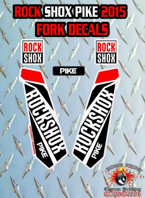 ROCK SHOX Revelation FORK Stickers Decals Mountain Bike Down Hill MTB white