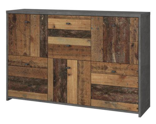 und Esszimmer Anrichte Used Wood grau Beton Vintage Best Sideboard Kommode Wohn