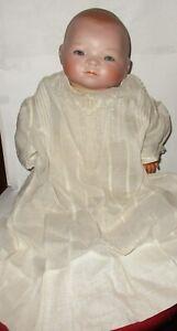 Antique-German-Grace-Putnam-Bye-lo-Baby-Doll-Sleepy-Eyes-Closed-Mouth-Blue-Eyes