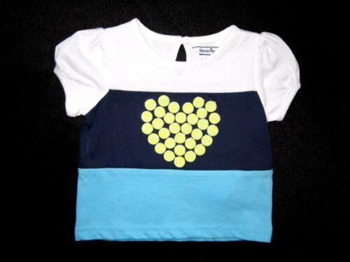 Hartstrings Infant//Toddler Baby Girls Color Block Tennis Short Sleeve Top