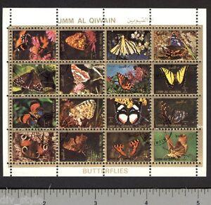 Moths & Butterflies miniature sheet of 16 stamps CTO