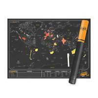 LUCKIES Scratchmap Chalk NEU/OVP Scratch Map Rubbel Poster +Stift z. Beschreiben