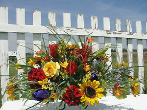 Tax Refund Special Tombstone Saddle Sprays Sympathy Cemetery Flowers Memorial