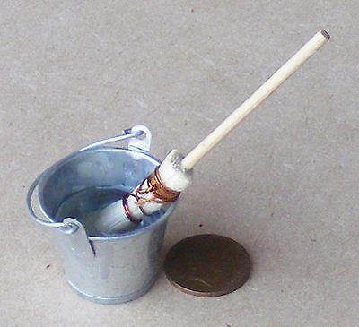 Accessori Di Pulizia Scala 1.12, Cucina Secchio in Metallo Casa delle Bambole Miniature