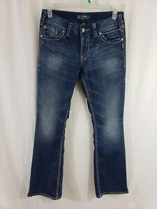 Silver-Jeans-Suki-Surplus-Womens-Blue-Denim-Size-29-x-32-Boot-Cut-Medium-Wash