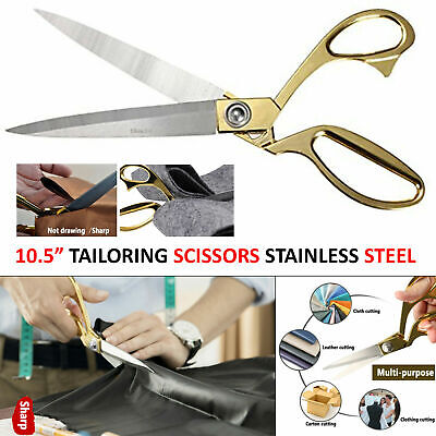 "10.5"" TAILORING SCISSORS STAINLESS STEEL DRESSMAKING SHEARS FABRIC CRAFT CUTTING"