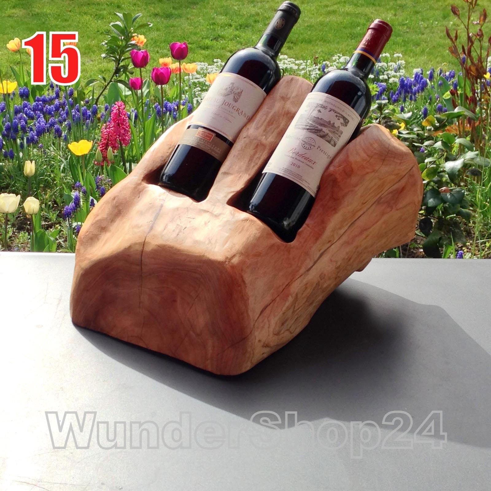 Bois Massif Racine des bouteilles Support 15 étagère à vin en Exclusivité Unique Décoration