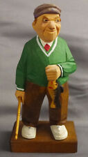 Rare Trygg Wood Carving Figure Fishman Angler Signed No. 34 A Peer Import Sweden