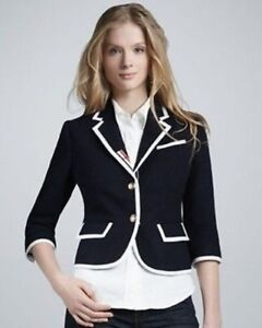 NEW THOM BROWNE Women's Sports Jacket Blazer Wool Navy Blue NEIMAN MARCUS Target