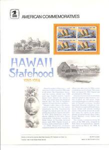 #213 20c Hawaii Statehood #2080 USPS Commemorative Stamp Panel