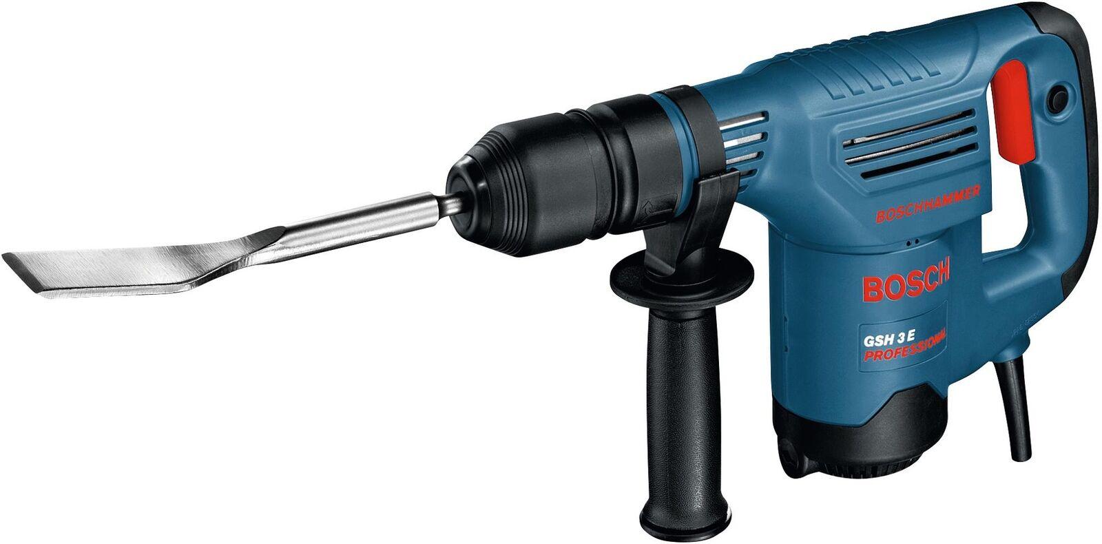 Bosch GSH3E Schlaghammer 0611320703 Handwerkerkoffer & 2x Meißel