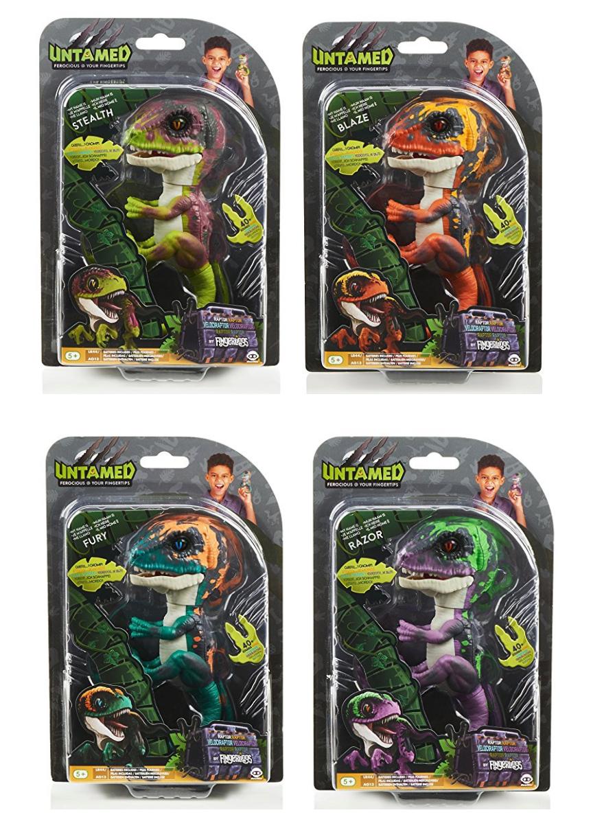Fingerlings satz 4 baby - dinosaurier jungs velociraptor stealth - blaze wut...