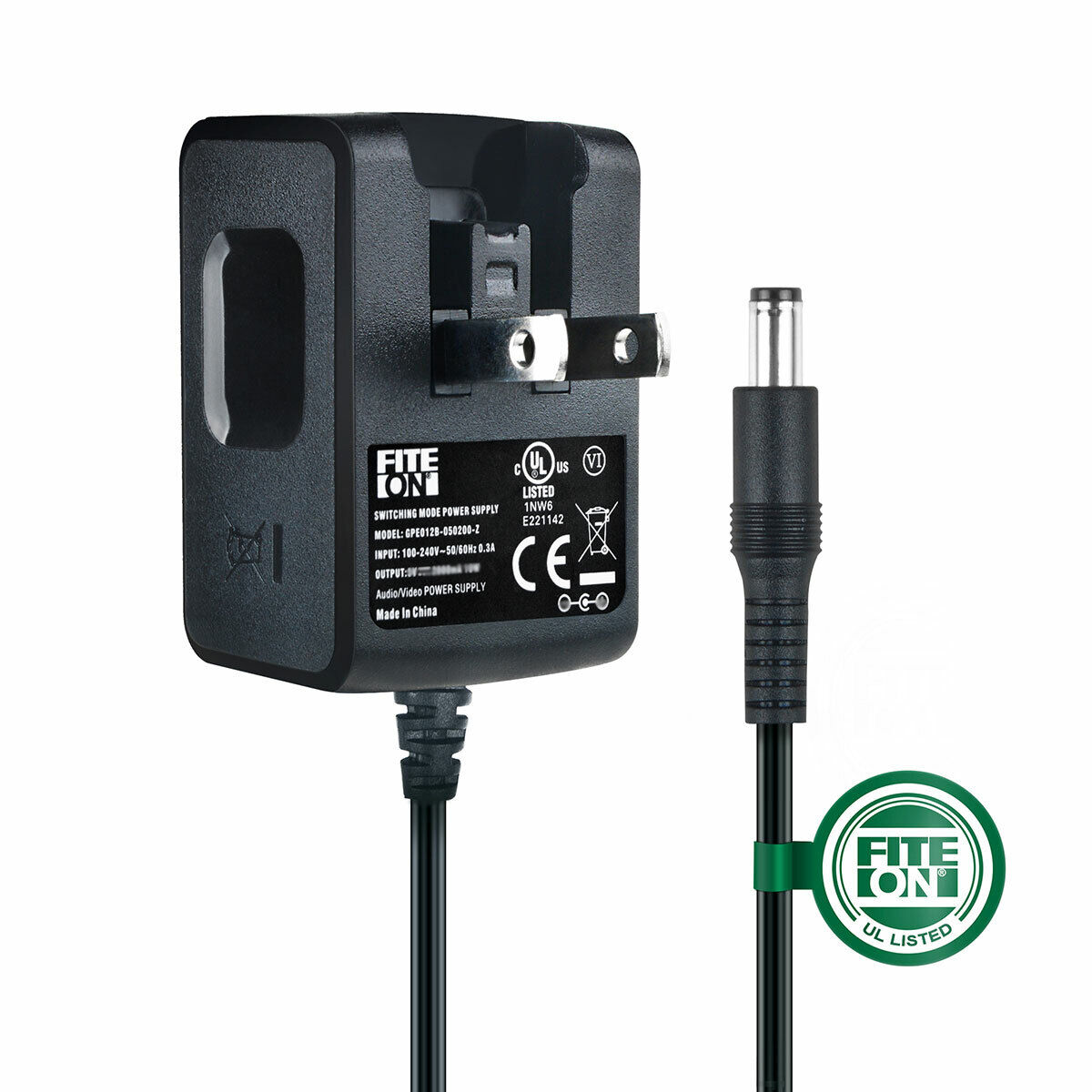 UL 5ft AC Adapter Charger for Atlona SB3690 SB-3690 converter Power Mains PSU