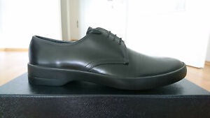 Details zu Prada Herrenschuhe Schnürschuhe Derby Schuhe Italien Leder Schwarz 7,5UK41,5EU
