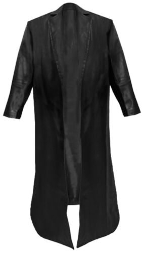 WWE The Undertaker/'s Long Length Leather Jacket Trench Coat