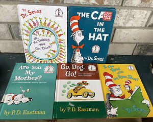 Lot of 5 Dr. Suess (Reprints) Beginner Hard Cover Books