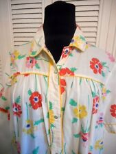 EYEFULS  DUSTER ROBE SIZE XL SNAP FRONT MULTI COLORS FLORAL SHORT SLEEVES