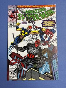 Marvel-AMAZING-SPIDER-MAN-354-Comic-Book-LOT-Signed-MARK-BAGLEY-NM-NEW-WARRIORS