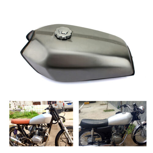 Universal Motorrad Cafe Racer Kraftstoff Tank Benzintank+Tankdeckel Honda CG125